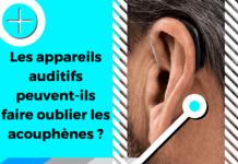 Le visuel illustre le sujet traitant des aides auditives et des acouphènes